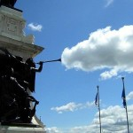 Blowing clouds statue