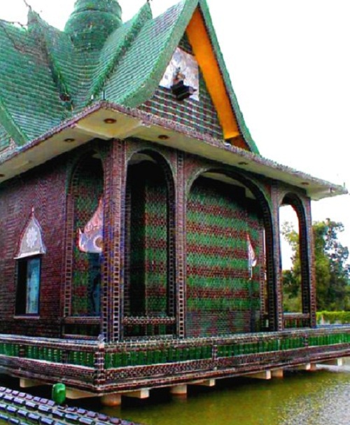 Temple made of Bottles