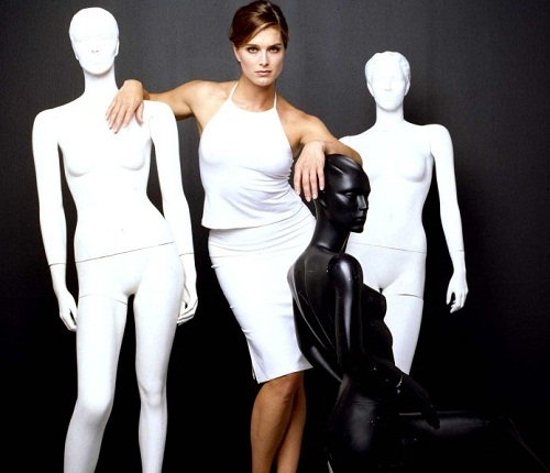 With mannequins