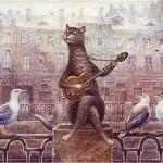 Petersburg romance. Painting by Russian artist Vladimir Rumyantsev