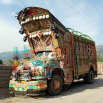 The lively colors of Pakistani trucks
