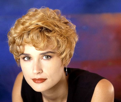 Red haired Demi Moore