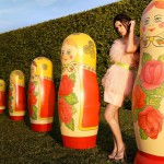 With Russian matryoshkas, Demi Moore