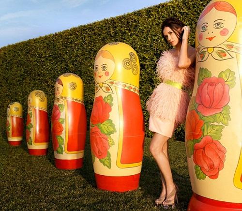 With Russian matryoshkas, Demi Moore