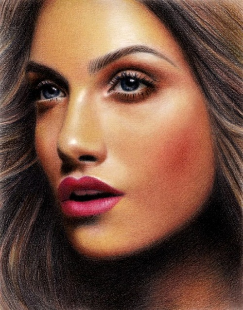 Dreamer. Pencil portrait by Armenian self-taught artist Sarkis Sarkissian