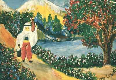 Esref Armagan's painting