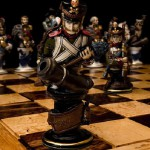Porcelain figure of chess set 'Borodino', 1991