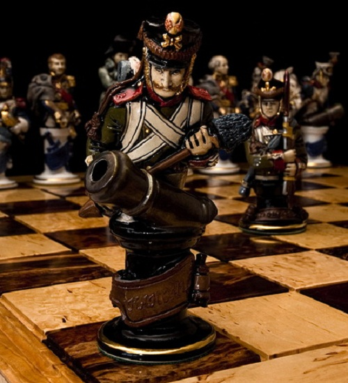 Porcelain figure of chess set 'Borodino', 1991