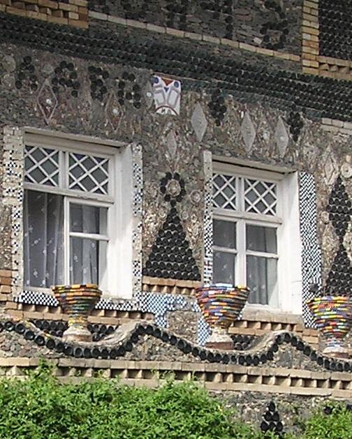 Azerbaijan. Glass bottle house