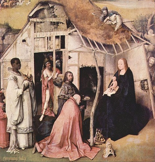 Hieronymus Bosch's triptych the adoration of the Magi. The central part