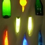 Hundertwasser bottles wall