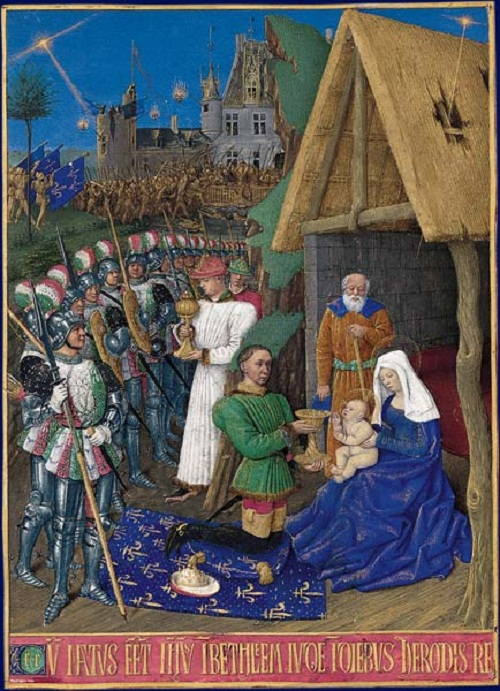 Jean Fouquet (one of the magi is King Charles VII of France)