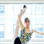 Doing exercise Beautiful ballerina Keenan Kampa