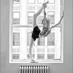 The split of ballerina in the window. Keenan Kampa