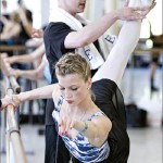 Working in a ballet class. Beautiful ballerina Keenan Kampa