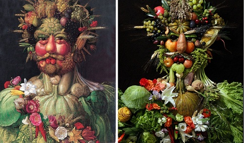 Klaus Enrique Gerdes natural copies of Arcimboldo