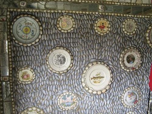 Wall of mosaics
