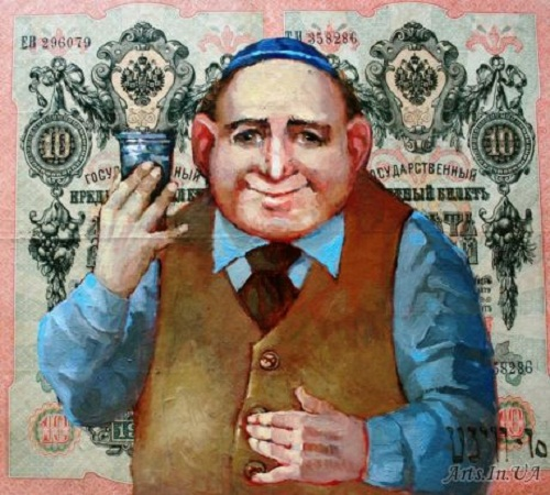 Lehajm. Money power in painting by Ukrainian artist Oleg Demko
