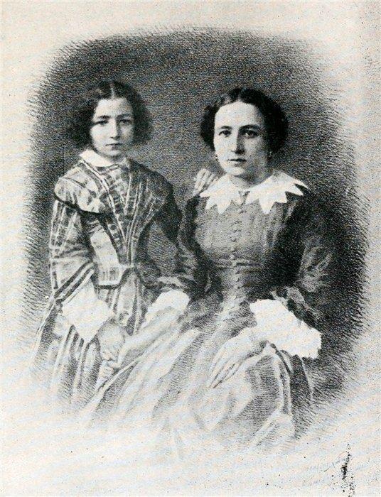 Little Sarah with her mother, Parisian courtesan