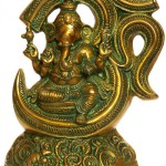 Sculpture of brass Lord Ganesha