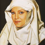 """Portrait of Madonna. From the series """"River of time"""""""