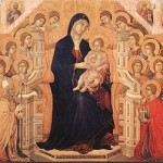 Maesta with Twenty Angels and Nineteen Saints by Duccio di Buoninsegna