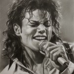 Michael Jackson Pencil portrait by Polish Illustrator Krzysztof Lukasiewicz