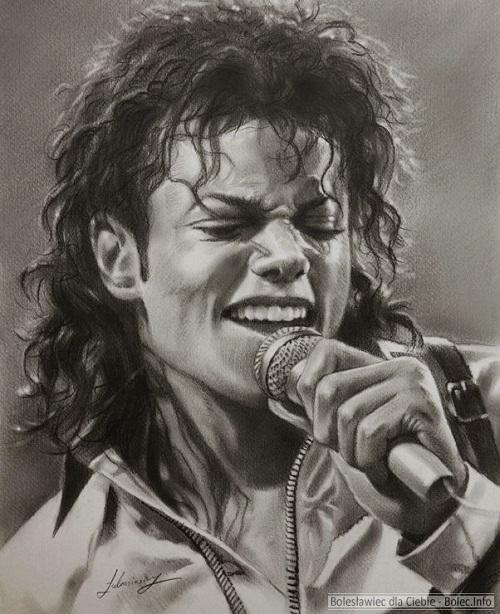 Michael Jackson Pencil portrait by Polish Illustrator Krzysztof Lukasiewicz
