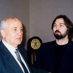 With Mikhail Gorbachev