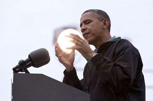 Obama Holding The Sun. – August 17, 2012. Creative not photo shopped illusions