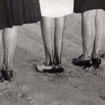 Painted stockings, retro photo