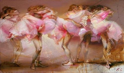 Dance. Painting by Russian artist Evgeny Kuznetsov