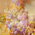 Irises. Painting by Russian artist Evgeny Kuznetsov