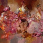 Talk. Painting by Russian artist Evgeny Kuznetsov
