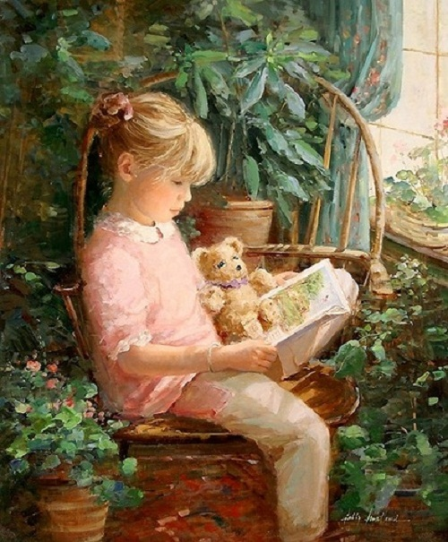 Painting by Sally Swatland