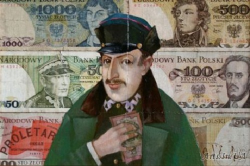 Pan and 'severance pay'. Money power in painting by Ukrainian artist Oleg Demko