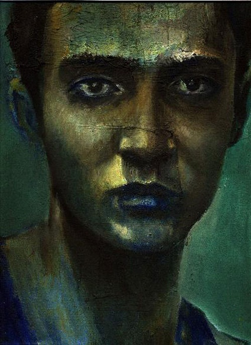 Portrait, painting by Simon Mark Smith