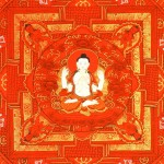Center of Red Mandala of Compassion (With Four Armed Avalokiteshvara)