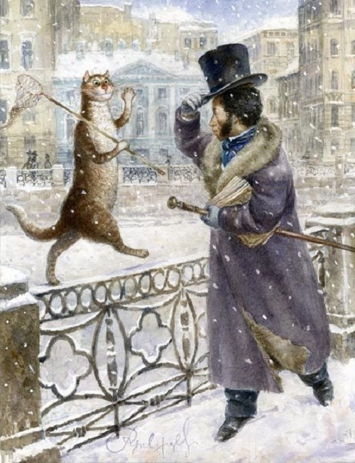 Beauty will save viola beauty in everything cat world by vladimir rumyantsev russian poet alexander pushkin greeting the cat m4hsunfo