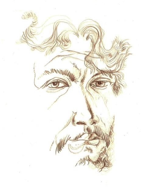 Self-portrait. 1990. Pencil, paper