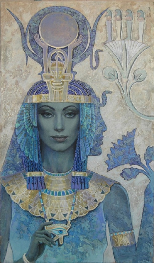 Shadow Of Isis. Mythological paintings by Russian artist Nikolai Burdykin