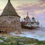 Solovetsky Monastery. Mythological paintings by Russian artist Nikolai Burdykin