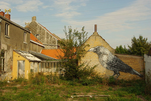 Street art by Belgian graffiti artist Roa