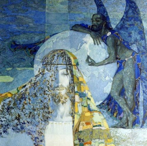 Temptation. paintings by Nikolai Burdykin