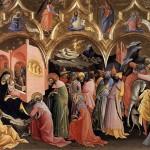 Domenico Ghirlandaio, Church of Santa Trinita, Florence, Italy. The adoration of the Magi (1485)