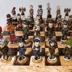 Historical battle chess set
