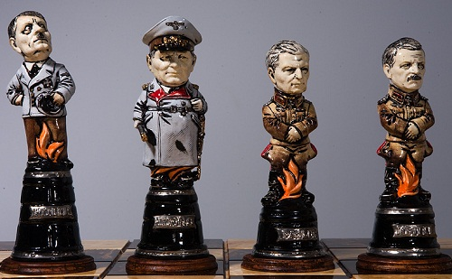 Historical battle chess set