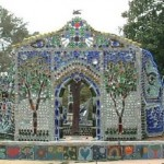 Beautiful mosaic chapel constructed by Virginia Wright-Frierson in honor of Minnie Evans