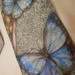Tie Morphine. Men's tie, hand painted. Mixed technique – cold batik, free painting