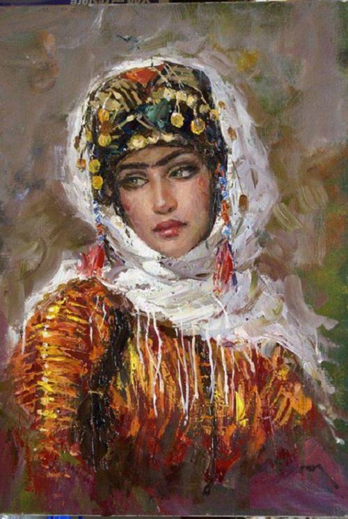 Turkish beauty in paintings of Ramzi Taskıran